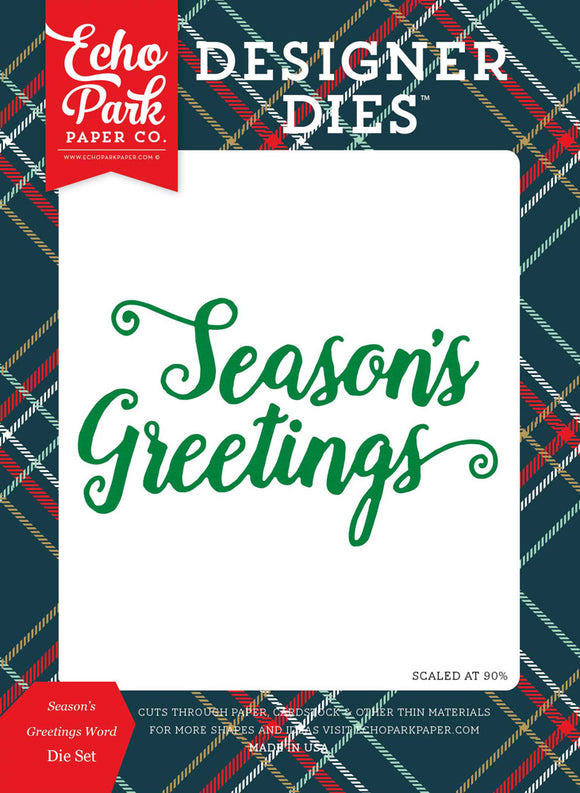 Echo Park Designer Dies - Deck the Halls - Season's Greetings Word Die Set