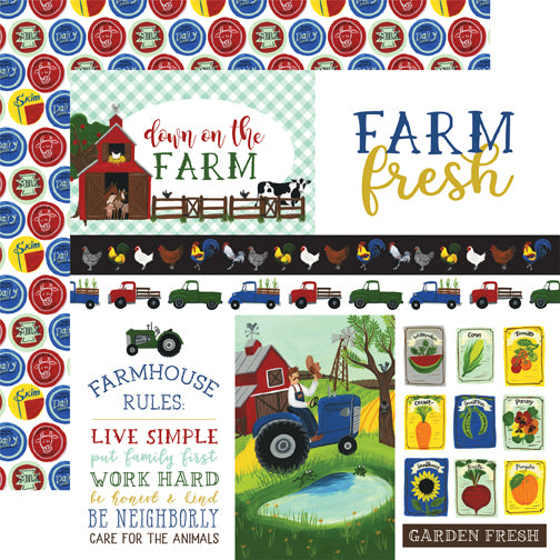 Echo Park Cut-Outs - Down On the Farm - Journaling Cards