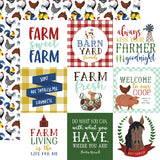 Echo Park Cut-Outs - Down On the Farm - 4x4 Journaling Cards