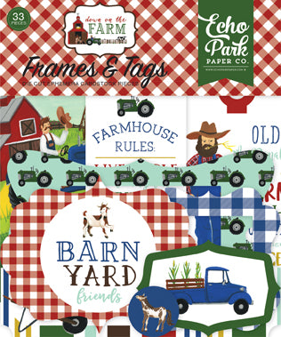 Echo Park Frames & Tags Die-Cuts - Down On the Farm