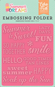 Echo Park Embossing Folder - Summer Dreams - Summer Is Sweet