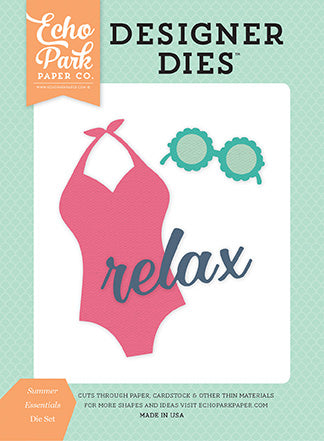 Echo Park Designer Dies - Summer Dreams - Summer Essentials - Die Set