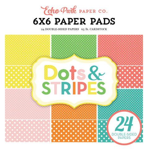 Echo Park 6x6 Pad - Dots & Stripes - Summer