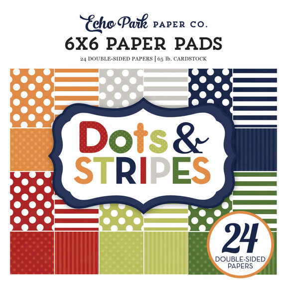 Echo Park 6x6 Pad - Dots & Stripes - Little Boy