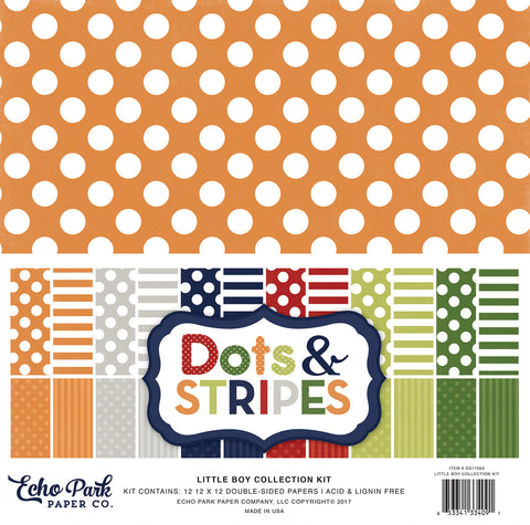 Echo Park Collection Kit - Dots & Stripes - Little Boy
