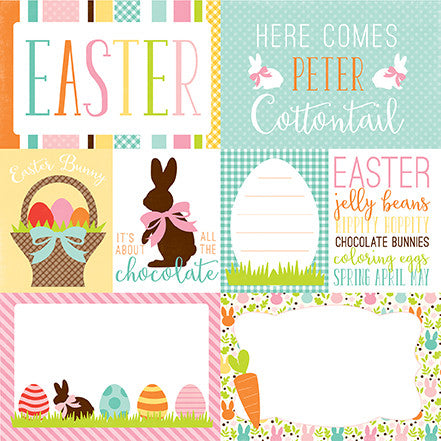 Echo Park Cut-Outs - Easter - Journaling Cards