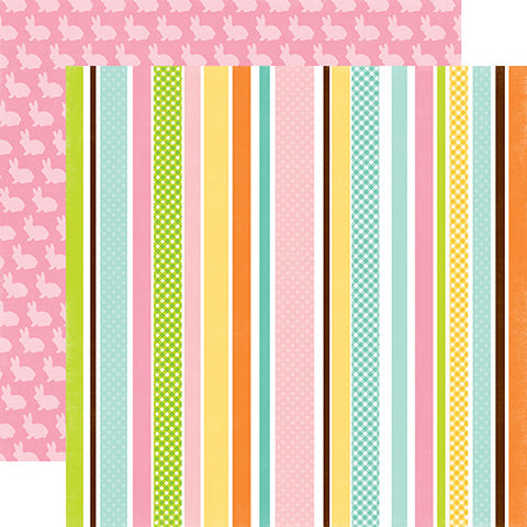 Echo Park Papers - Easter - Easter Stripe - 2 Sheets