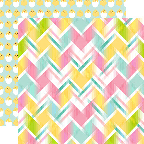 Echo Park Papers - Easter - Easter Plaid - 2 Sheets