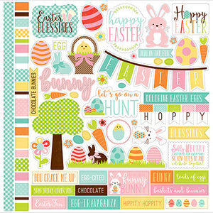 Echo Park 12x12 Cardstock Stickers - Easter - Elements