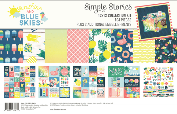 Simple Stories Embellishment/Collection Kit - Sunshine and Blue Skies