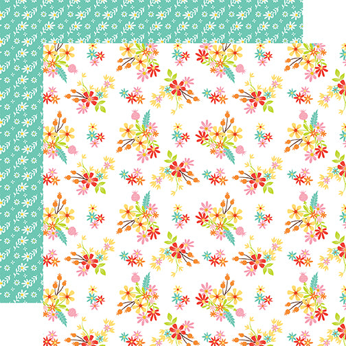 Echo Park Papers - Easter Wishes - Easter Flowers - 2 Sheets