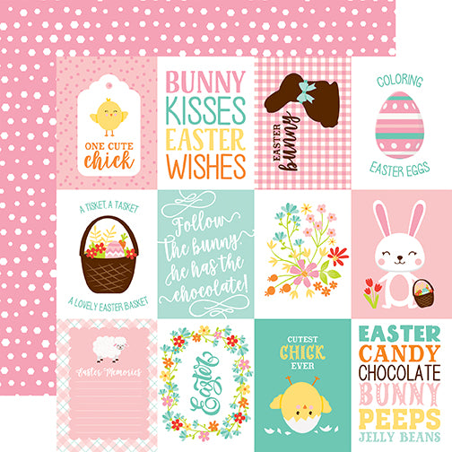 Echo Park Cut-Outs - Easter Wishes - 3x4 Journaling Cards