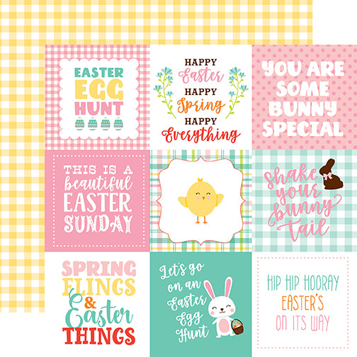 Echo Park Cut-Outs - Easter Wishes - 4x4 Journaling Cards