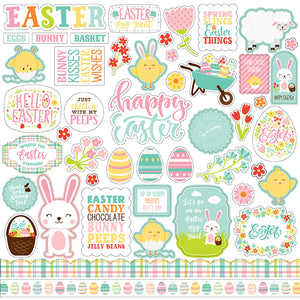 Echo Park 12x12 Cardstock Stickers - Easter Wishes - Elements