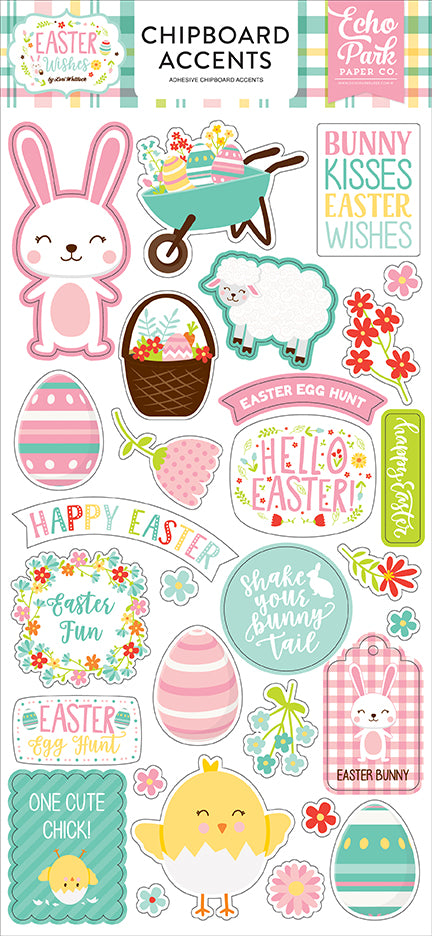Echo Park Chipboard - Easter Wishes - Accents