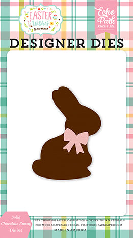Echo Park Designer Dies - Easter Wishes - Solid Chocolate Bunny Die Set