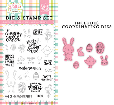 Echo Park Stamp and Die Set - Easter Wishes - Easter Memories