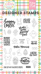 Echo Park Clear Stamp Set - Easter Wishes - Easter Memories