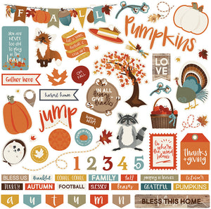 Photo Play 12x12 Cardstock Stickers - Fall Breeze - Elements