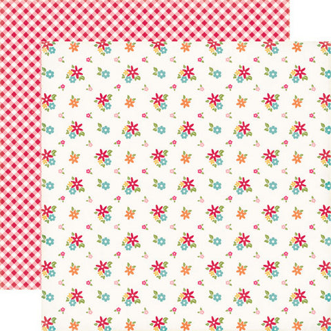 Echo Park Papers - Fine and Dandy - Fresh Flowers - 2 Sheets