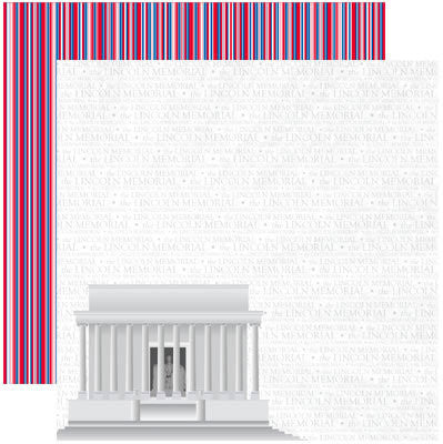 Reminisce Papers - DC - Lincoln Memorial - 2 Sheets