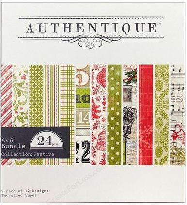 Authentique 6x6 Paper Pad - Festive