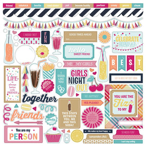 Photo Play 12x12 Cardstock Stickers - Fun With Friends - Elements