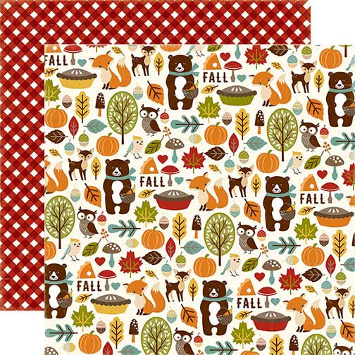 Echo Park Papers - Fall is in the Air - Fall Friends - 2 Sheets