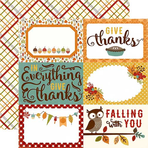 Echo Park Cut-Outs - Fall is in the Air - 4x6 Journaling Cards