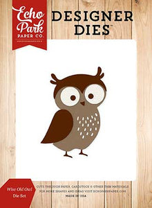 Echo Park Designer Dies - Fall Is In the Air - Wise Old Owl - Die Set