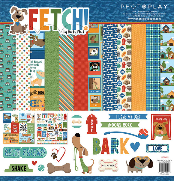 Photo Play Paper Collection Kit - Fetch - Dog