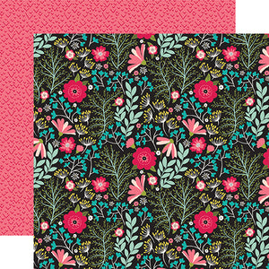 Echo Park Papers - Forward With Faith - Floral Faith - 2 Sheets