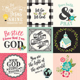 Echo Park Cut-Outs - Forward With Faith - 4x4 Journaling Cards