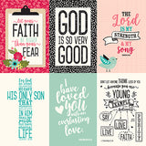Echo Park Cut-Outs - Forward With Faith - 4x6 Vertical Journaling Cards