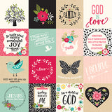 Echo Park Cut-Outs - Forward With Faith - 3x3 Journaling Cards