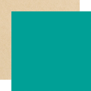 Echo Park Papers - Forward With Faith - Dark Teal/Kraft - 2 Sheets