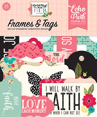 Echo Park Frames & Tags Die-Cuts - Forward With Faith