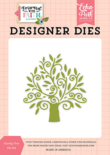 Echo Park Designer Dies - Forward With Faith - Family Tree Die Set