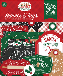 Echo Park Frames & Tags Die-Cuts - A Gingerbread Christmas