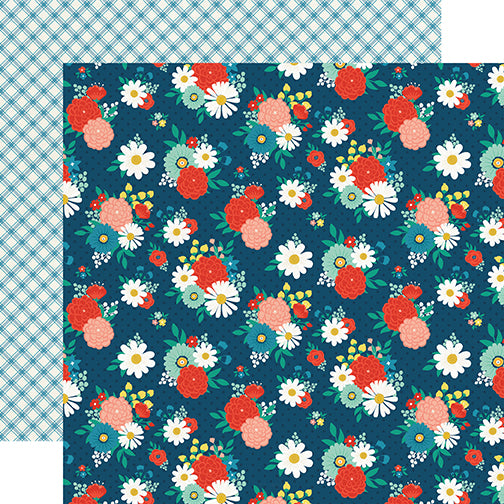Echo Park Papers - Good Day Sunshine - Festive Floral - 2 Sheets