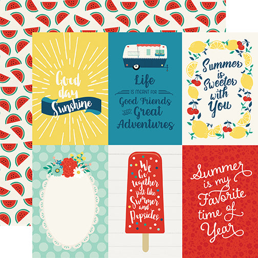 Echo Park Cut-Outs - Good Day Sunshine - 4x6 Journaling Cards