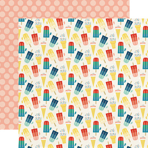 Echo Park Papers - Good Day Sunshine - Sweet Treat - 2 Sheets