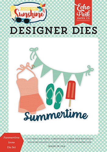 Echo Park Designer Dies - Good Day Sunshine - Summertime Icons - Die Set