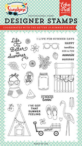 Echo Park Clear Stamp Set - Good Day Sunshine - Better In Summer
