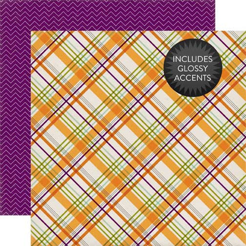 Echo Park Papers - Halloween - Spooky Plaid - 2 Sheets