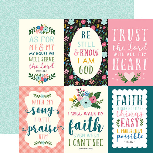Echo Park Cut-Outs - Have Faith - 4x6 Journaling Cards