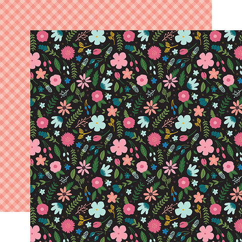 Echo Park Papers - Have Faith - Faith Floral - 2 Sheets