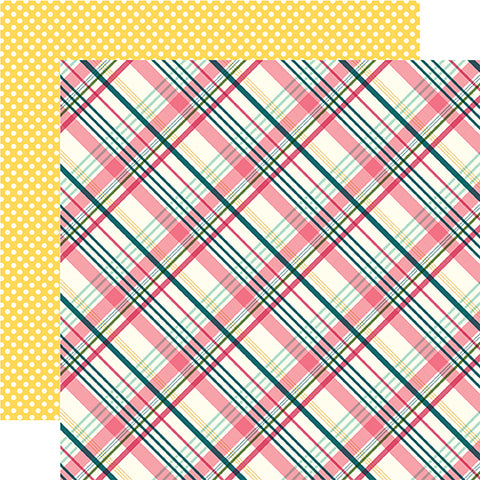 Echo Park Papers - Have Faith - Perfect Plaid - 2 Sheets