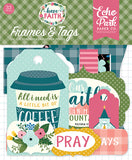 Echo Park Frames & Tags Die-Cuts - Have Faith