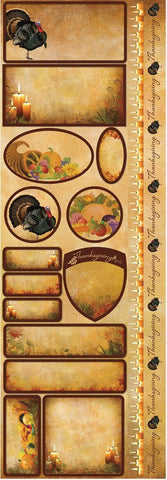 Reminisce Long Cardstock Stickers - Harvest - Labels